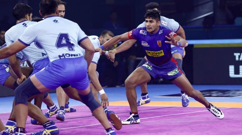 Apart from all teams, Naveen Goyat is yet to score a Super-10 against Tamil Thalaivas this season.