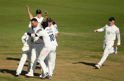 Kyle Abbott was the tormentor in chief with 17 wickets against Somerset