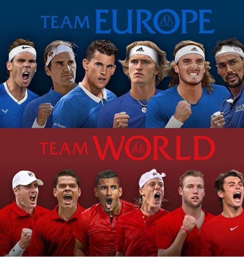 Teams for the third edition of the Laver Cup 2019