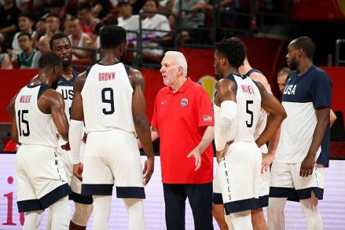 Gregg Popovich led his USA team to a comfortable win over Giannis and Greece
