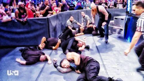 Erick Rowan threw a fan at Roman Reigns this week on SmackDown Live
