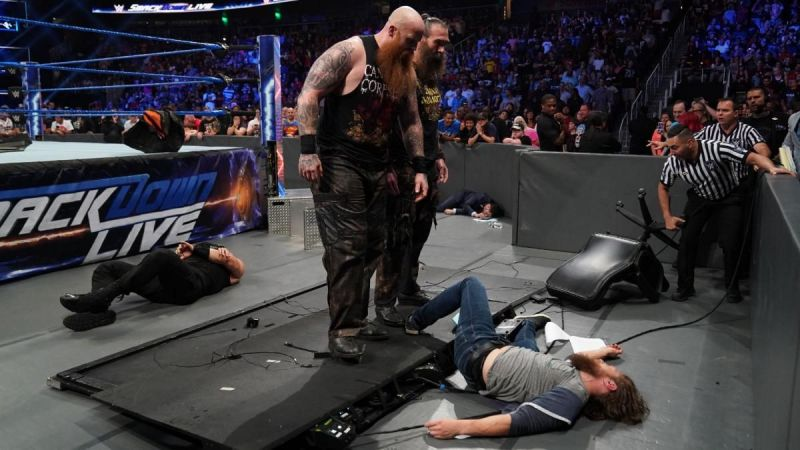 Bryan received a massive beatdown on SmackDown Live