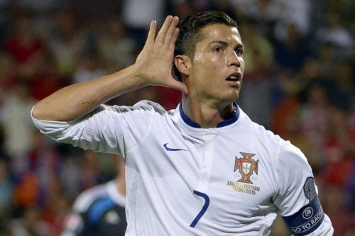 Cristiano Ronaldo scores against Armenia in Yerevan