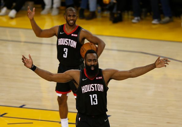 Chris Paul and James Harden spent two seasons together in Houston