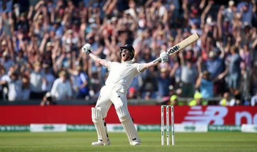 A Jubilant Ben Stokes after his maverick 135 to lead England to a win against Australia at Headingley to keep the Ashes alive
