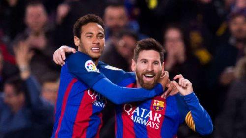 Neymar Jr and Lionel Messi