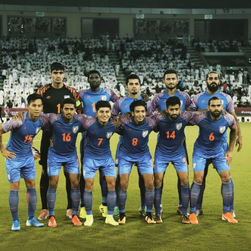Indian football team that held Qatar to a goalless draw