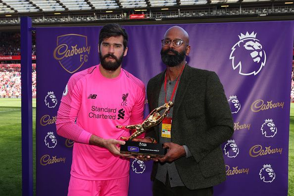 Alisson won the Premier League Golden Glove in his debut season