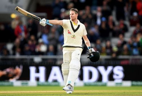Steven Smith soaks in the applause after a magnificent double century.