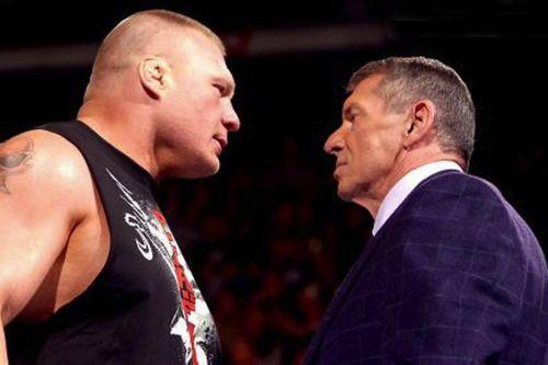 Brock Lesnar and VincMcMahon