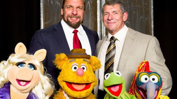 Vince and Triple H with The Muppets