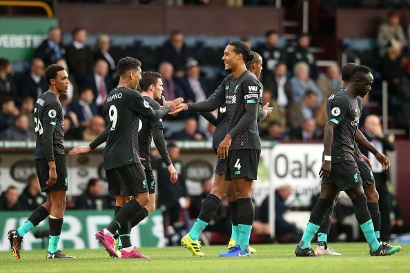 Liverpool make it four wins out of four at Turf Moor.