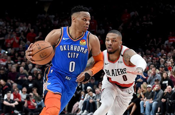 Damian Lillard and the Portland Trail Blazers eliminated Westbrook and the Thunder back in April