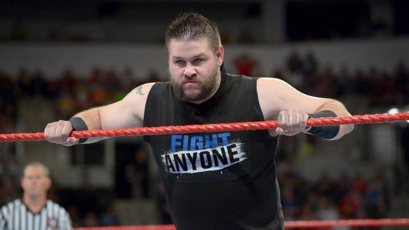 Kevin Owens during an episode of WWE Raw.