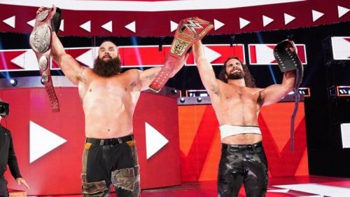 Braun Strowman and Seth Rollins are the current Tag Team champions on RAW