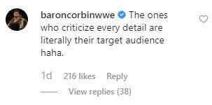 Corbin's reply