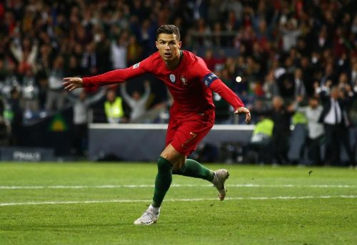 Cristiano Ronaldo scores his first hat-trick in the UEFA Nations League