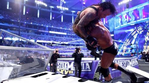 The Undertaker could not make it out of the arena 'under his own power'.