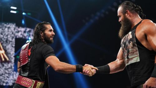 Seth Rollins and Braun Strowman are the RAW tag team champions.