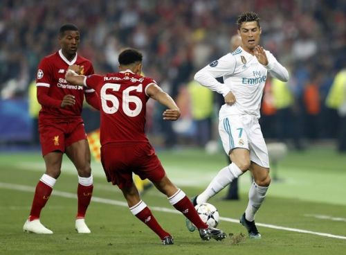 Trent Alexander-Arnold during Liverpool's clash with Real Madrid