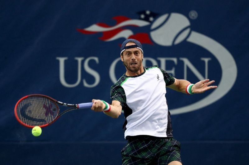 Lucky loser Paolo Lorenzi won consecutive five-set matches to reach the third round