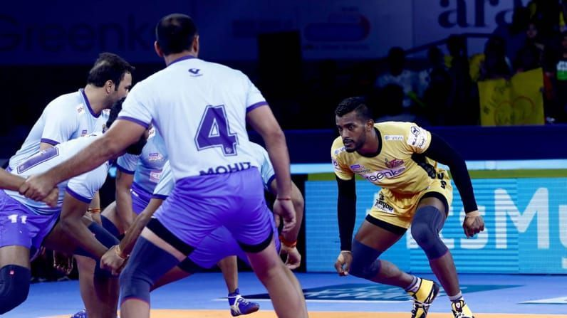 Siddharth Desai could become the joint-fastest with Naveen Goyat to 300 raid points tonight.