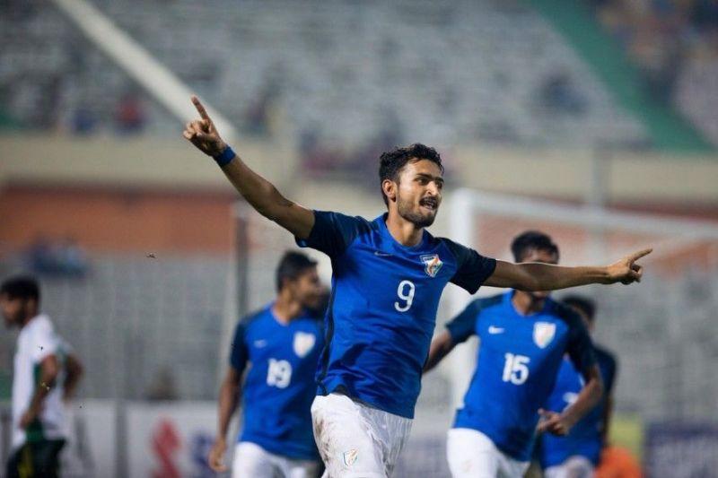 Manvir Singh replaced Sunil Chhetri in the starting XI