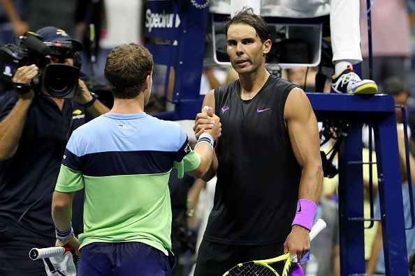 Nadal improved his head-to-head against Schwartzman to 8-0