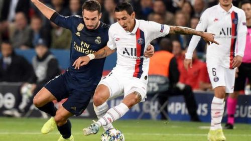 Carvajal endured a tricky evening's work, one not helped by minimal midfield support and overlapping runs