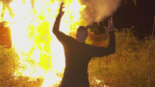 Randy Orton set Bray Wyatt's cabin in the woods on fire before WrestleMania 33.