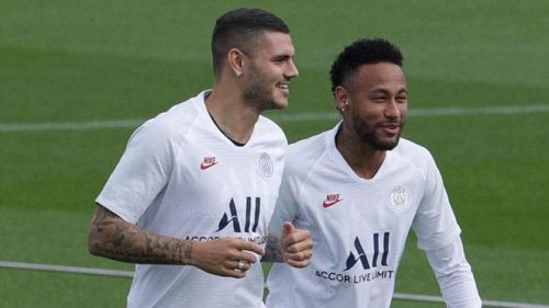 Mauro Icardi and Neymar