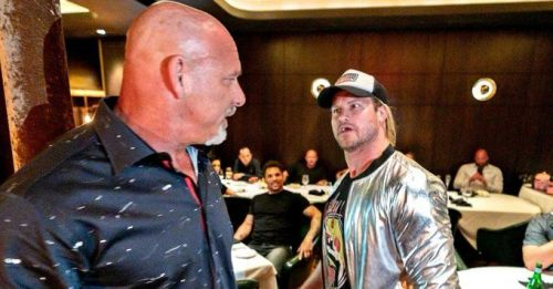 Goldberg and Dolph Ziggler spar at Las Vegas dinner party