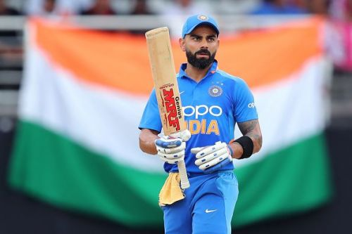 Kohli in action against the West Indies