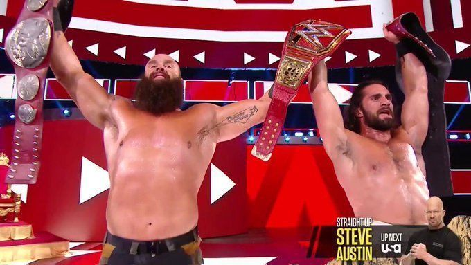 Strowman and Rollins will be the favorites to retain
