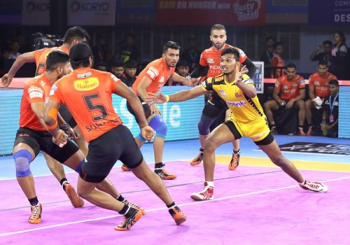 U Mumba produced an all-round performance to beat the Telugu Titans