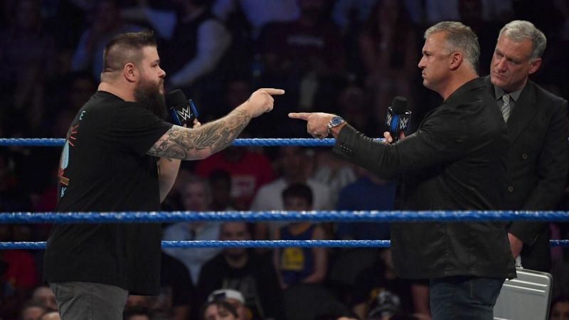Kevin Owens and Shane McMahon began feuding in 2017