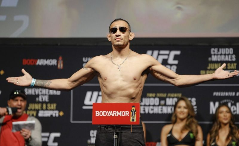 Tony Ferguson has a word or two for Conor McGregor