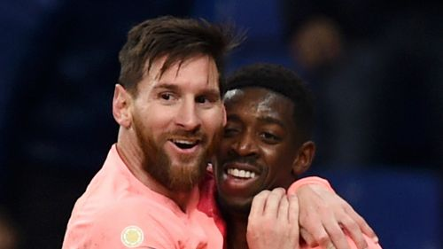 Lionel Messi and Ousmane Dembele