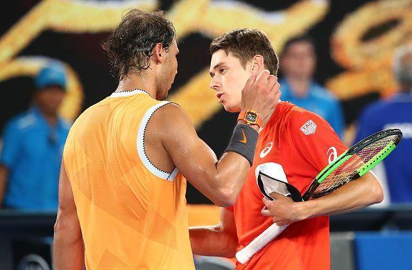 Nadal beat De Minaur in the third round of the 2019 Australian Open
