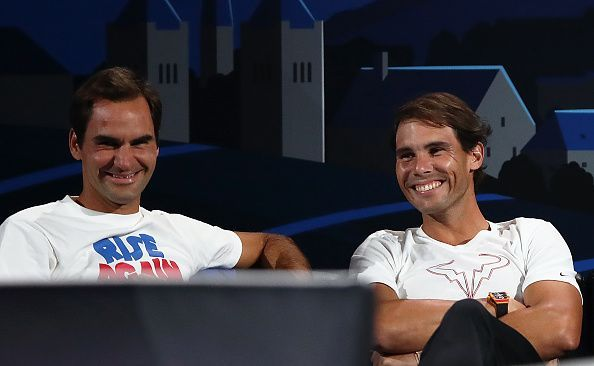 Federer and Nadal at the Laver Cup