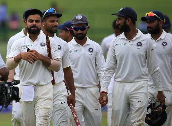 The Indian Test team.