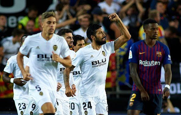 Garay put Valencia ahead