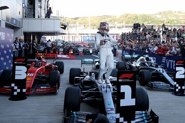 Lewis Hamilton emerged victorious in Russia with his teammate finishing second