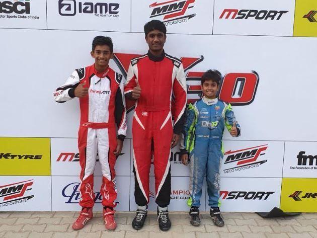 Ruhaan Alwa (L), Nirmal Umashankar (C) and Ishaan Madesh (R clinched the top honours