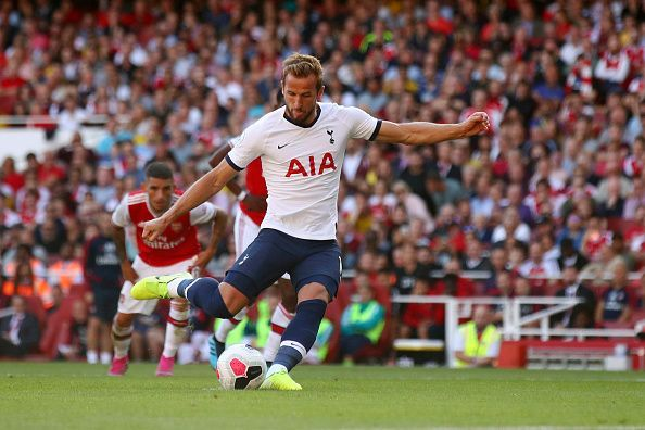 Harry Kane would look to continue his England form with Tottenham