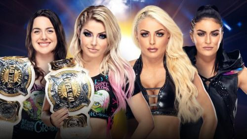 WWE Women's Tag Team Championships: Alexa Bliss and Sonya DeVille (c) vs Mandy Rose and Sonya Deville