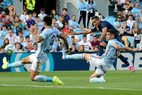Celta Vigo's players in action