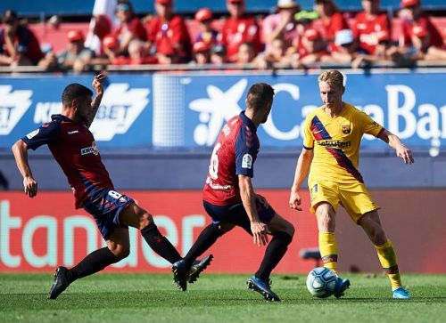 Frenkie de Jong failed to make much of an impact against Osasuna
