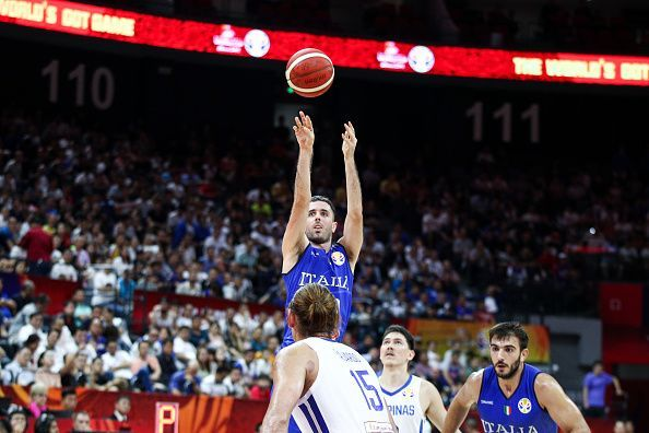 The Philippines connected with just 13% of its three-point attempts, while Italy managed almost 50%