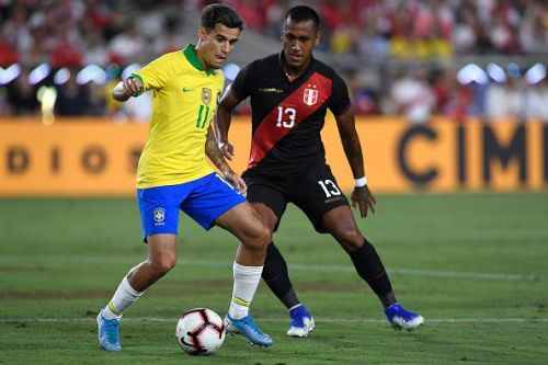 Coutinho (L) would be hoping to lay down an early marker